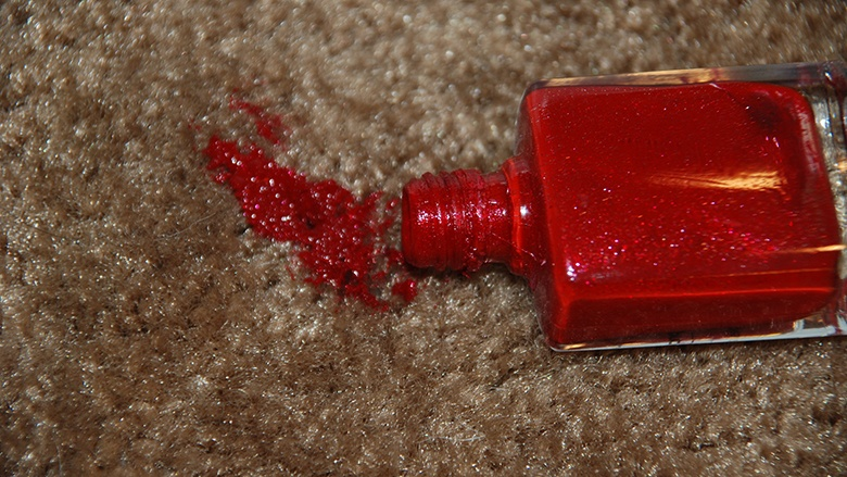 nail paint remove from carpet